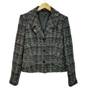 LAFAYETTE 148  Black & White Tweed Blazer